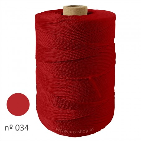 Hilo Cuquillo rojo sangre  Rollo. Complementos, madroños y mantoncillos trajes de  flamenca