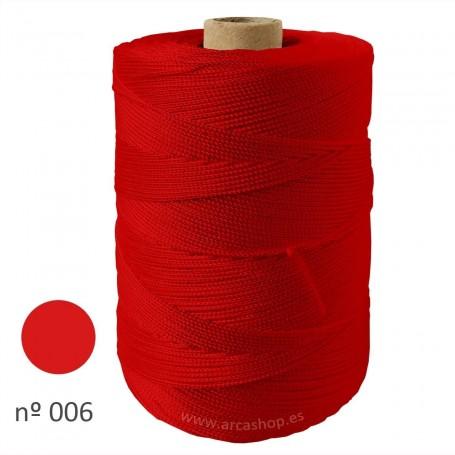 Hilo Cuquillo rojo bermellón Rollo. Complementos, madroños y mantoncillos trajes de  flamenca