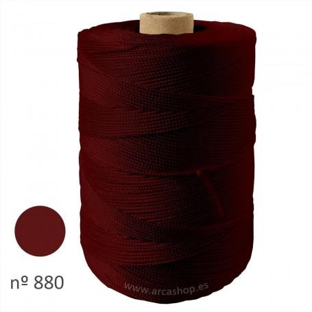 Hilo Cuquillo burdeos oscuro Rollo. Complementos, madroños y mantoncillos trajes de  flamenca