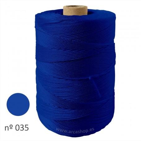 Hilo Cuquillo Flamenca azul eléctrico  Rollo.
