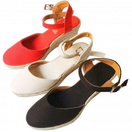 Zapatos de Esparto con Cuña Flamenca