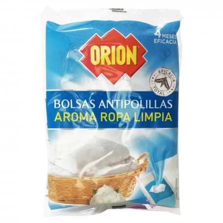 Bolsas Antipolillas Aroma Ropa Limpia y Aroma Lavanda Fresca Orion