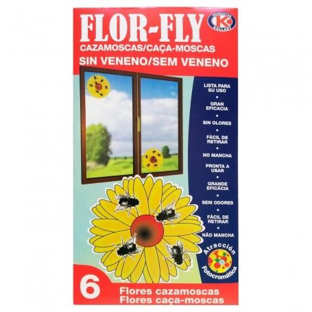 Flor-Fly Cazamoscas sin Veneno. Flores Cazamoscas.