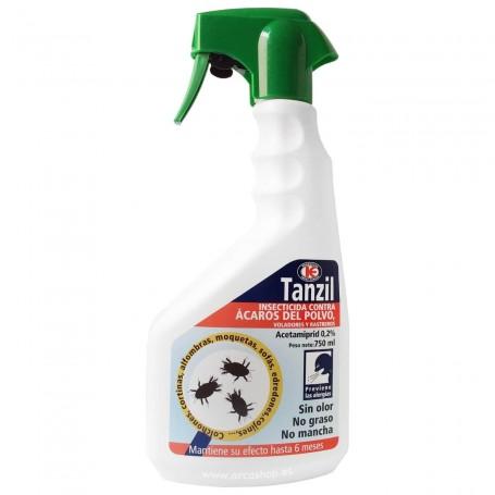Insecticida Ácaros del Polvo, colchones, cortinas, cojines, edredones, sofás, moquetas, alfombras TANZIL Impex Europa