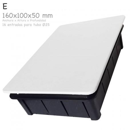 Cajas rectangular de empalme para empotrar