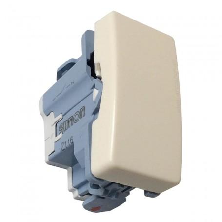 Pulsador, interruptor, conmutador fino blanco con campana Blanco Mecanismos Simon 27