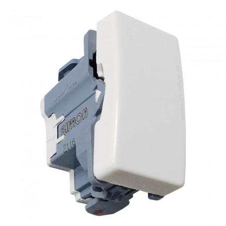 Pulsador, interruptor, conmutador fino Marfil con campana Blanco Mecanismos Simon 27