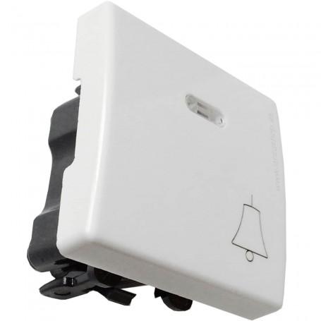 Interruptor con luminoso y campana blanco Mecanismos Simon 27