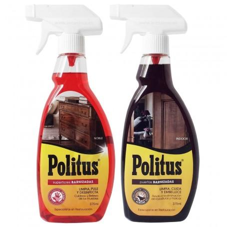POLITUS Spray Superfices Barnizadas y Puertas Barnizadas Limpia Abrillanta Desinfecta