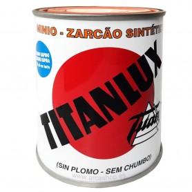 Minio sin plomo sintético Titanlux, imprimación antioxidante hierro: muebles, rejas, escaleras, etc. Naranja.