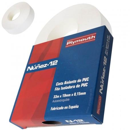 Cinta Aislante PVC Nuñez-12 Plymouth Blanca