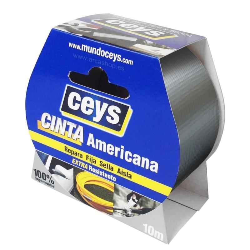 Cinta Americana Ceys Gris, Negra y Blanca. Calidad Superior.