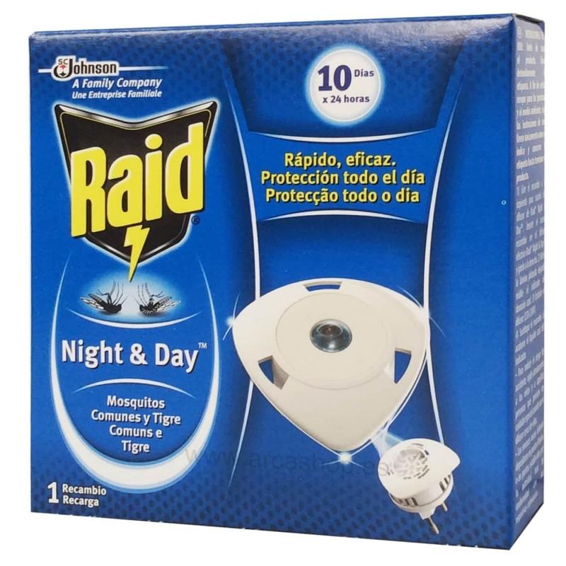 Recambio difusor eléctrico Night&Day RAID moscas, mosquitos y hormigas