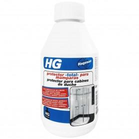 """HG """"Protector total para mamparas"""", los cristales, bastidores, azulejos y grifos de la ducha repelerán el agua y la suciedad."""