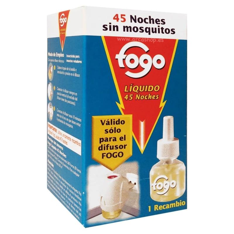 Difusor eléctrico Liquido y Recambio Líquido antimosquitos Fogo