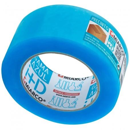 Cinta Embalar PP Caucho Miarco Transparente Azul