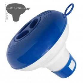 Dispensador de Cloro flotante ajustable mediano para piscinas Bestway