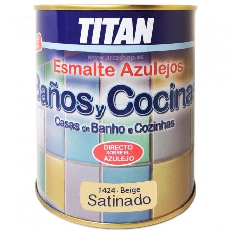 Esmalte Beige 1424 Satinado Azulejos Titan Baño y Cocina