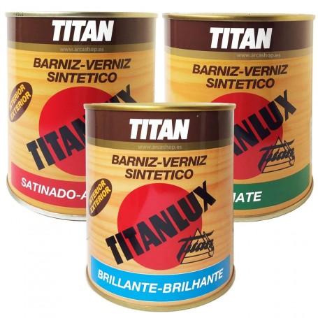Barniz Sintético Titanlux. Barniz Incoloro Mate, Satinado y Brillante para maderas.