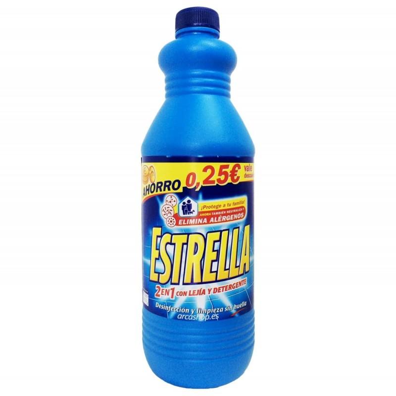 Estrella 2en1 Lejía y Detergente. Estrella Azul, Limón y Pino.