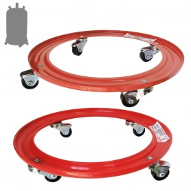 Soporte Plástico para Bombonas de Butano con ruedas