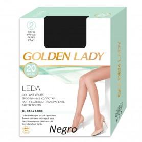 Panty negro Espuma LEDA 20 DEN Panty clásico de Espuma GOLDEN LADY