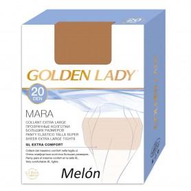Pantys Melón Piel natural MARA 20 DEN Panty clásico de Espuma GOLDEN LADY