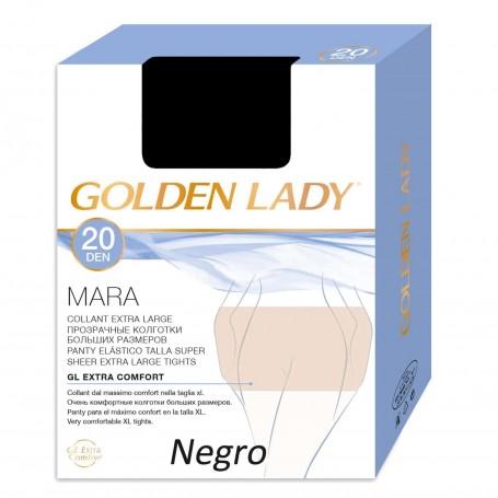 Pantys Negro Todo tipo pieles MARA 20 DEN Panty clásico de Espuma GOLDEN LADY