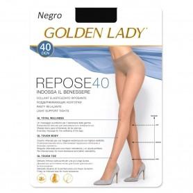 Pantys negros REPOSE 40 DEN Panty descanso con Lycra GOLDEN LADY