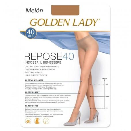 Pantys Color Carne Melón REPOSE 40 DEN Panty descanso con Lycra GOLDEN LADY