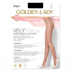 Panty Negro VELY 15 DEN Panty con lycra PLUS GOLDEN LADY
