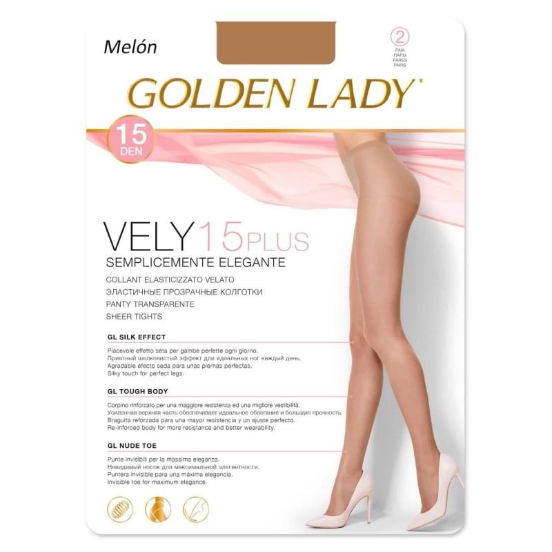 VELY 15 DEN Panty con lycra PLUS GOLDEN LADY
