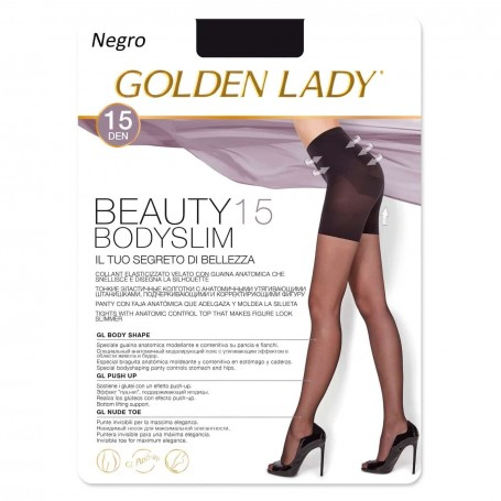 Panty Faja Adelgazante Negro BEAUTY 15 BODYSLIM Panty de Lycra GOLDEN LADY