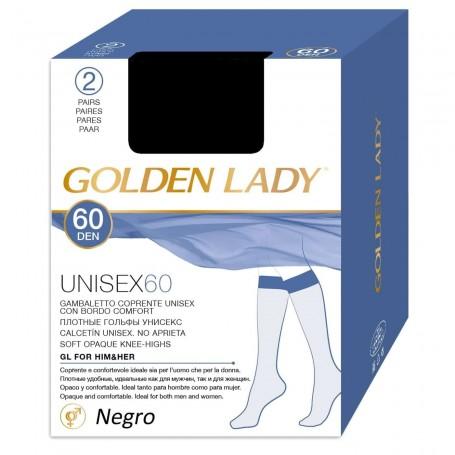 Calcetín Unisex 60 DEN Ejecutivo Negro y Melón GOLDEN LADY