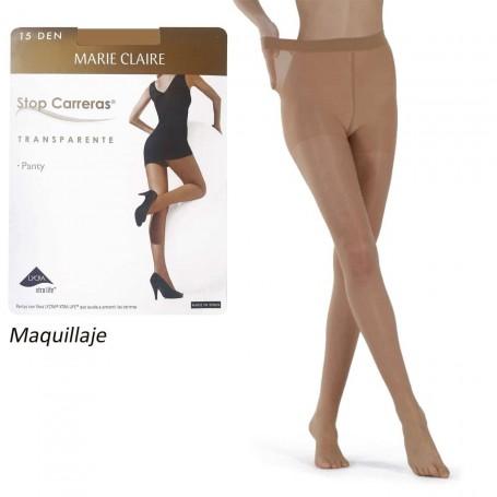 Color Tostado Maquillaje. Panty con lycra Marie Claire Stop Carreras 15 DEN