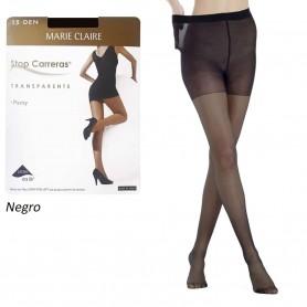 Color Negro. Panty con lycra Marie Claire Stop Carreras 15 DEN