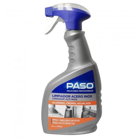 Limpiador Acero Inoxidable Paso Profesional campanas extractoras, chimeneas, encimeras, fregaderos y electrodomésticos.