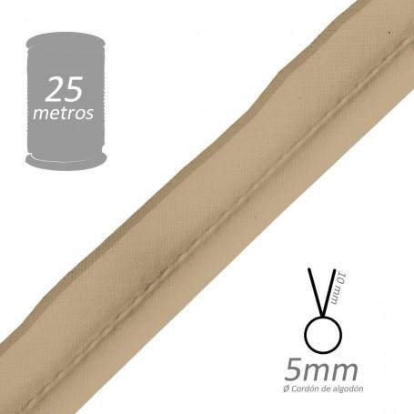 Vivo Beige con cordón de algodón 5 mm batista Byetsa