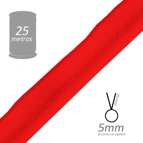 Vivo Rojo con cordón de algodón 5 mm batista Byetsa