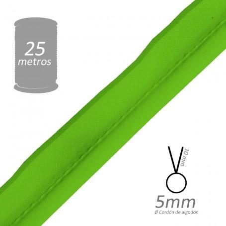 Vivo Verde Hierba con cordón de algodón 5 mm batista Byetsa