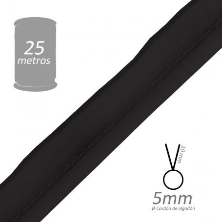 Vivo Negro con cordón de algodón 5 mm batista Byetsa