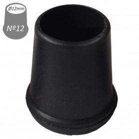 12 mm interior Conteras Negras y redondas de goma