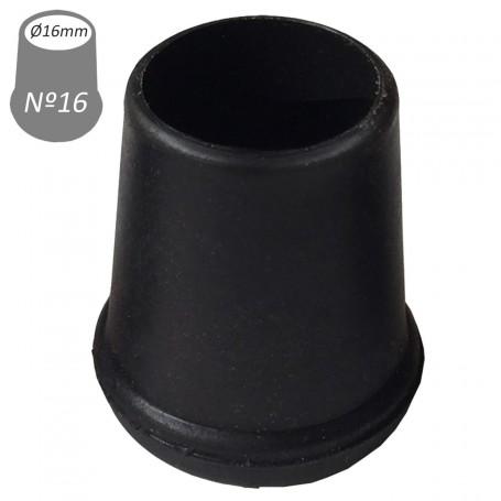 16 mm interior Conteras Negras y redondas de goma