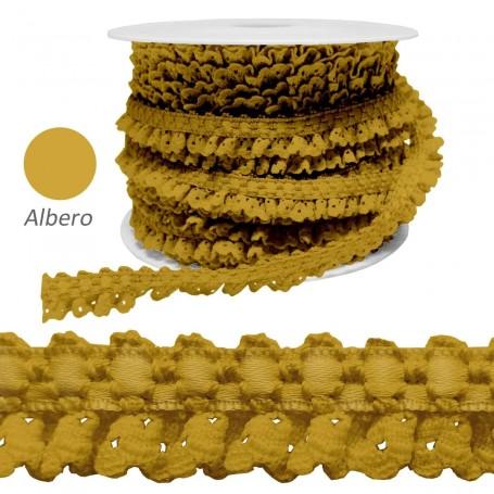 Encaje Fruncido Albero. Trajes y complementos. Rollos 25 metros.