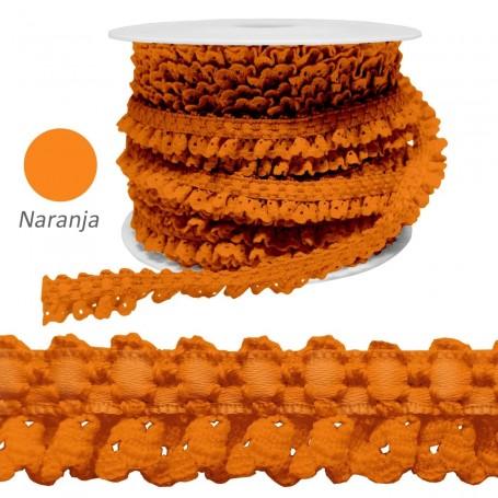 Encaje Fruncido Naranja.