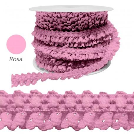 Encaje Fruncido Rosa