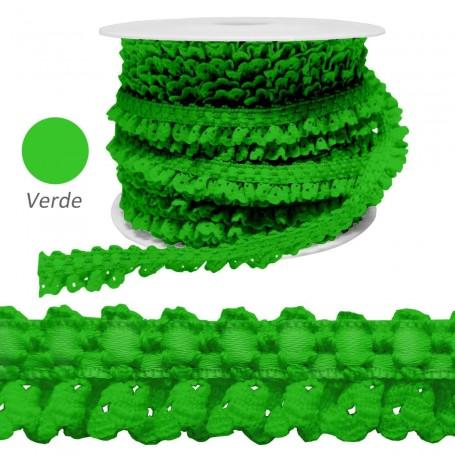 Encaje Fruncido Verde
