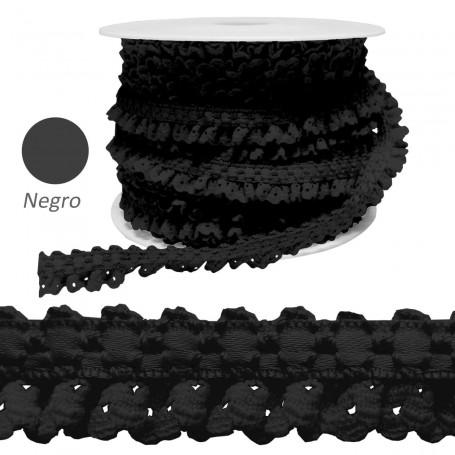 Encaje Fruncido Negro