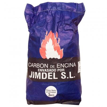 Carbón de Encina Jimdel para Barbacoas 3kg (BBQ)