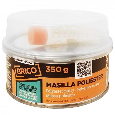 Masilla Poliéster con fibra de vidrio MIARCO. Automoción, Surf, Pádel, Náutica. Reparación y relleno.